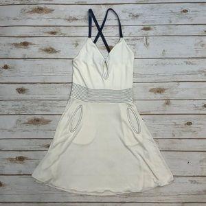 Emporio Armani Keyhole Crepe Cross Back Dress